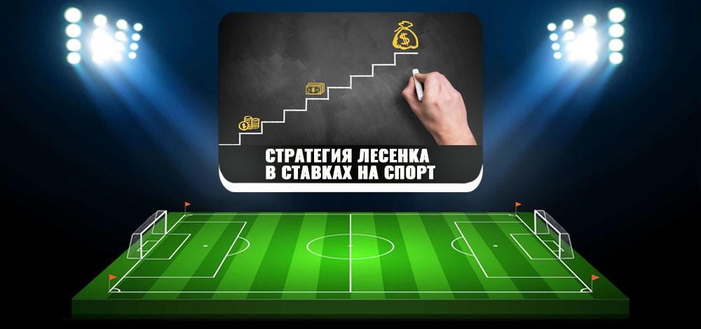 Суть стратегии «лесенка» в ставках на спорт, пример ставки