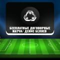 Бесплатные договорные матчи Дениса Беляева: отзывы