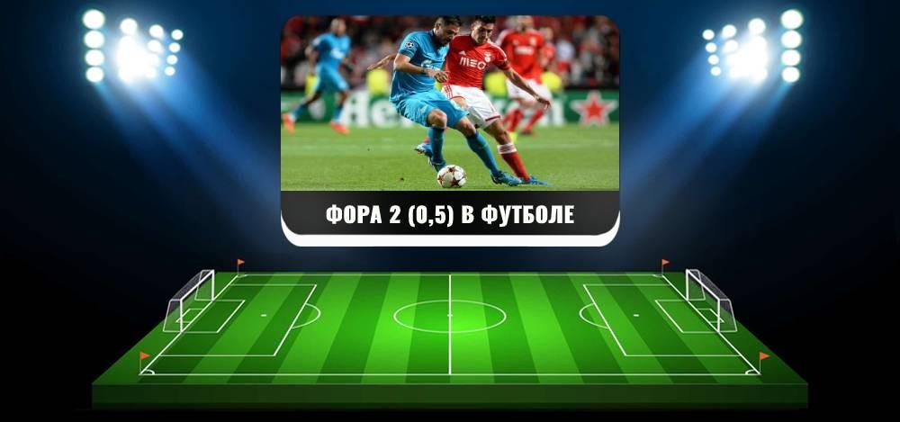 Фора 2 (0,5) в футболе: что это, примеры