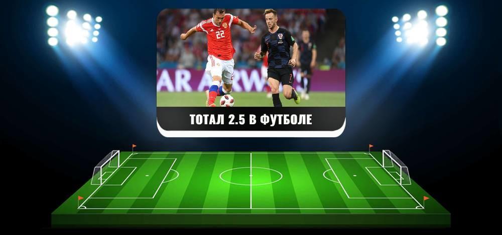 Значение тотала 2,5 Б в футболе