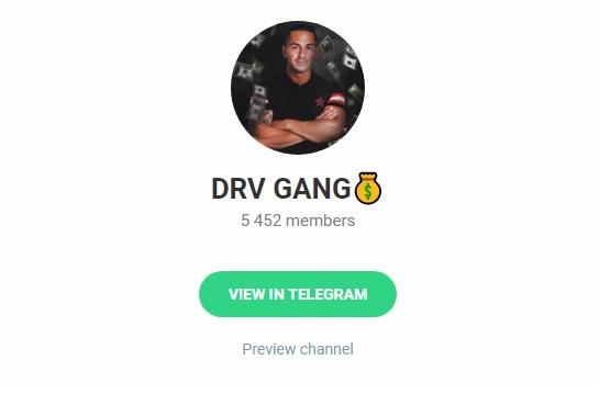 Telegram канала DRV GANG