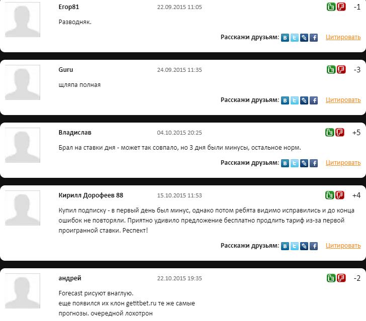 ForecastBet.ru отзывы