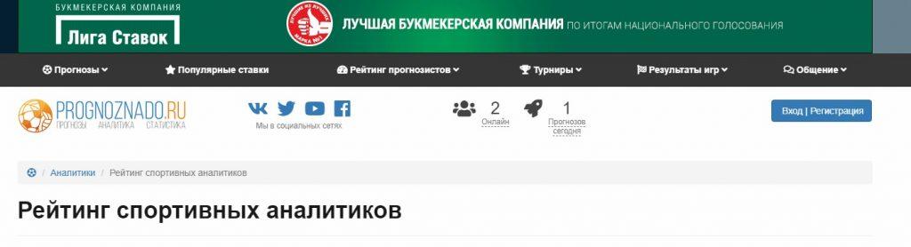 Внешний вид сайта Prognoznado.ru