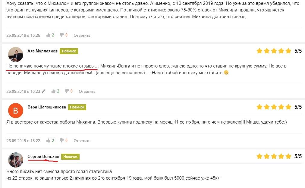 Отзывы Михаил Галицкий Возвращение
