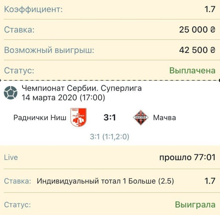 Проходимость ставок Алексея Ярмоленко обычно показана выше 90%