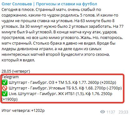 Статистику прогнозист публикует в Telegram