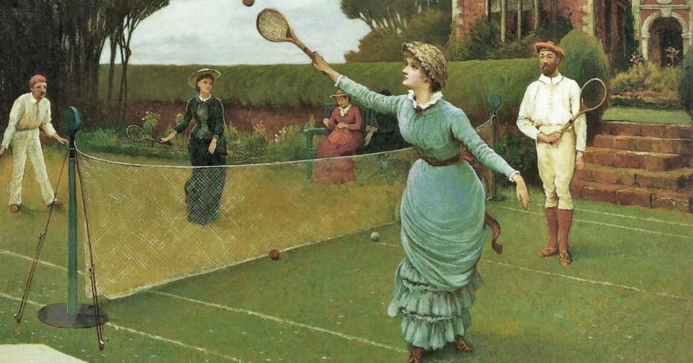 Игра в теннис 19 век