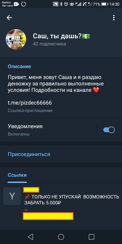 Телеграм-канал «Саш, ты дашь?»
