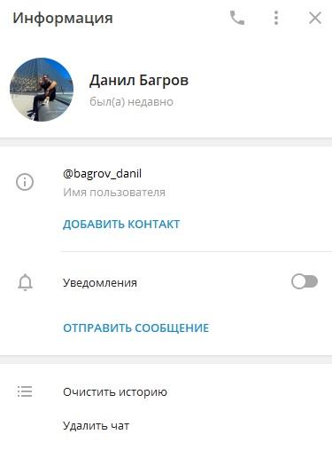 данил багров телеграм