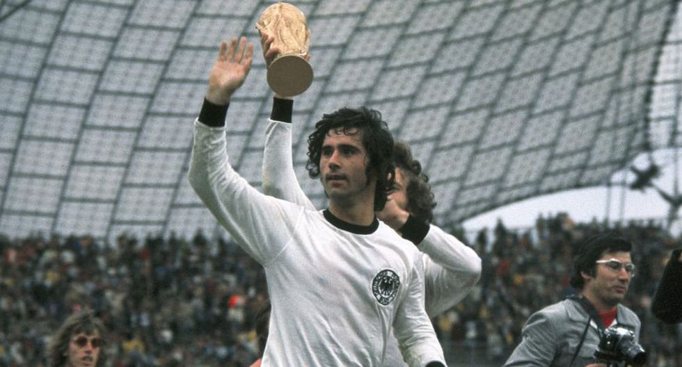 Нападающий немецкой сборной Герд Мюллер