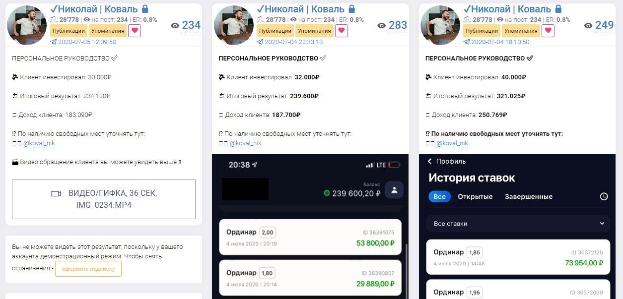Персональное руководство Николая Коваля