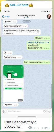 Абгар получает ваши 3000 рублей, добавляет к ним столько же своих и делает ставку, опираясь на собственную стратегию