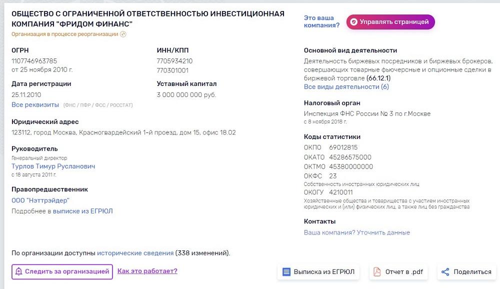 ООО ИК «Фридом Финанс»