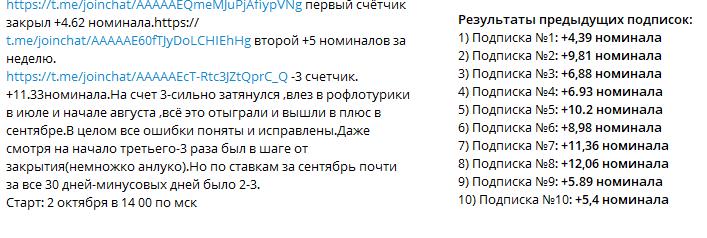 Отчеты о результатах подписки и суммах выигрышей