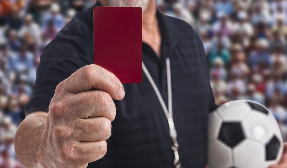 Штрафные карточки в футболе