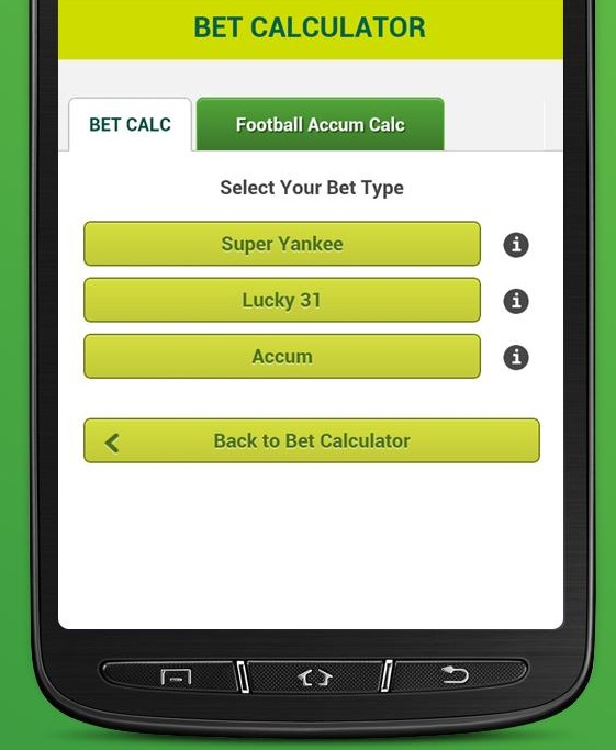 Big Bet Calculator