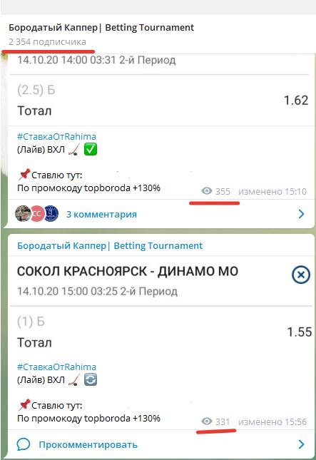 Количество подписчиков на канал Бородатый каппер