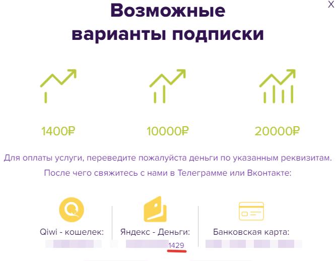 Номер кошелька «Яндекс.Деньги»