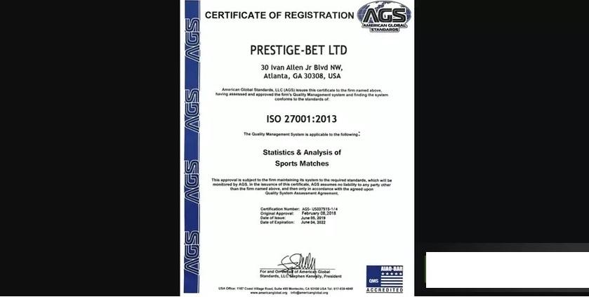 Публикуется сертификат