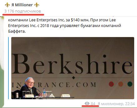На проект «Я Millioner» подписано 3176 человек