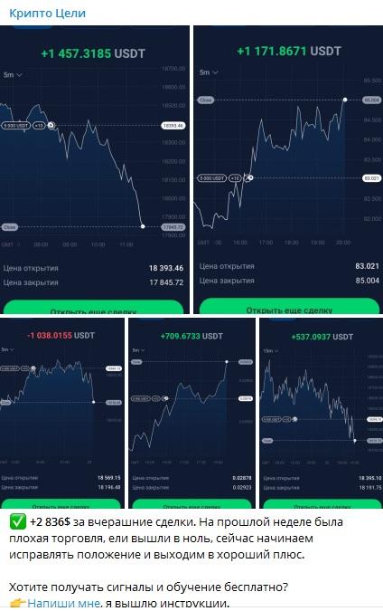 Скриншоты прибыльных сделок