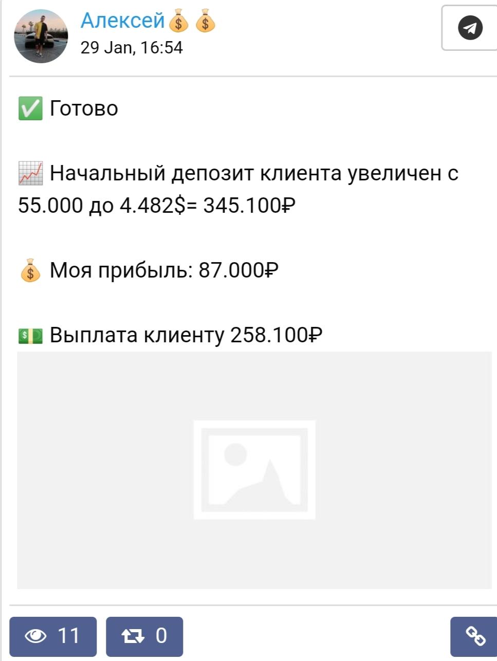 Представлена статистика в виде скринов денежных переводов