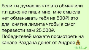 Первый перевод нужен для «снятия лимита со счета»