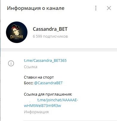 Проект «Кассандра БЕТ»