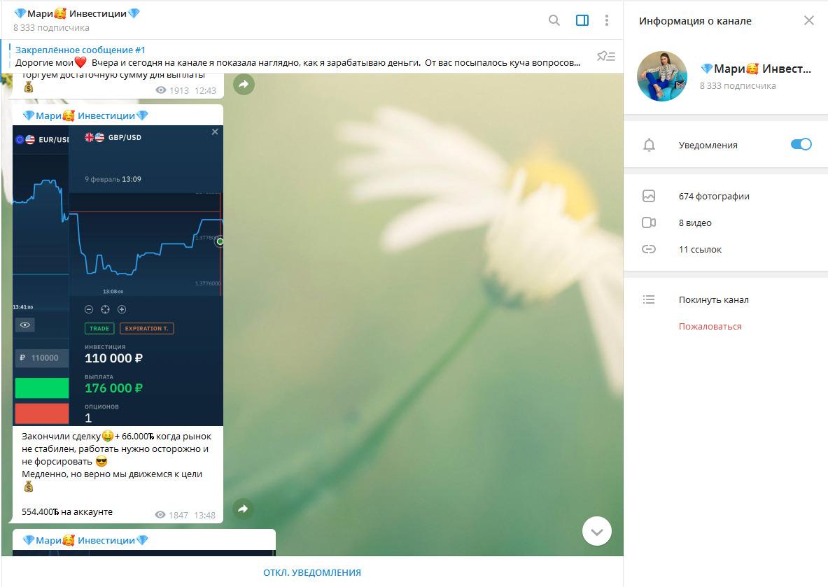 Скриншоты графика с курсом валютной пары