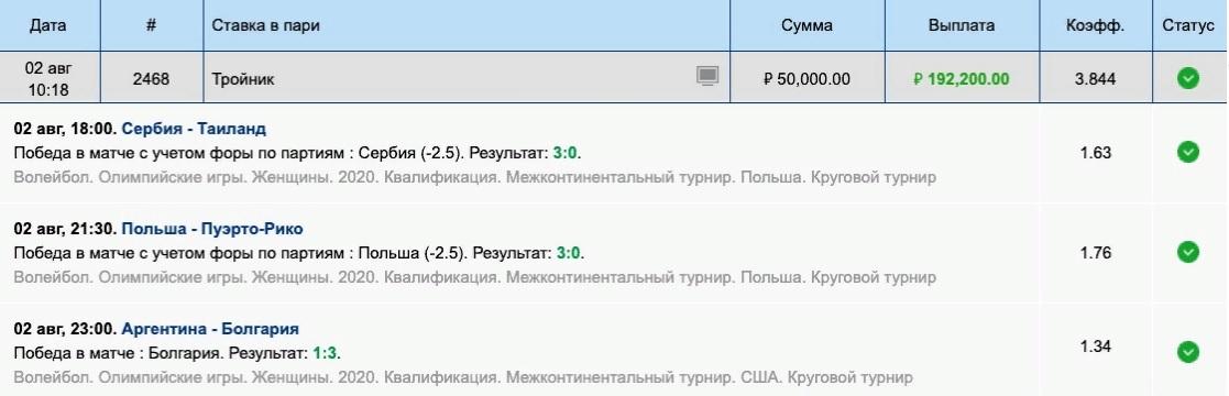 Скриншоты результатов матчей