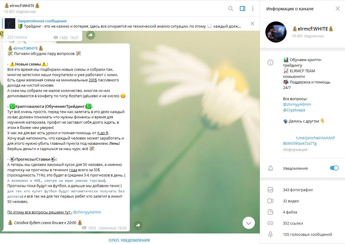 Телеграм-канал Elrmcf:WHITE