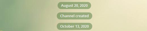 Канал создан в августе 2020 года