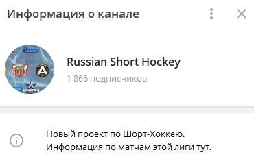 Информация о телеграм-канале Russian Short Hockey