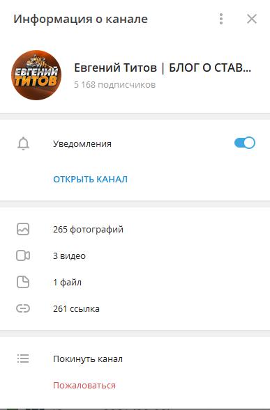 Информация о канале
