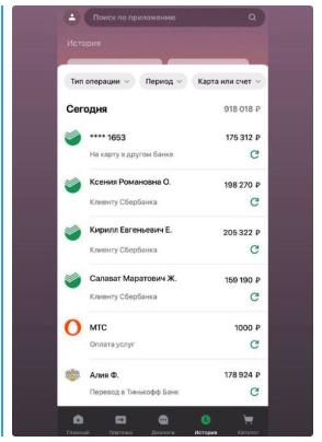 Отчеты по прибыли представляют собой скриншоты