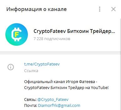 Проект «CryptoFateev Биткоин Трейдер / Криптовалюта»