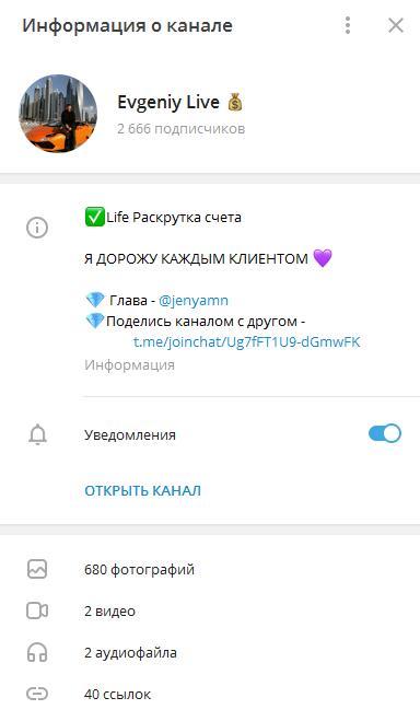 Проект Evgeniy Live