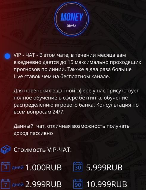 Тарифы на доступ в VIP-чат