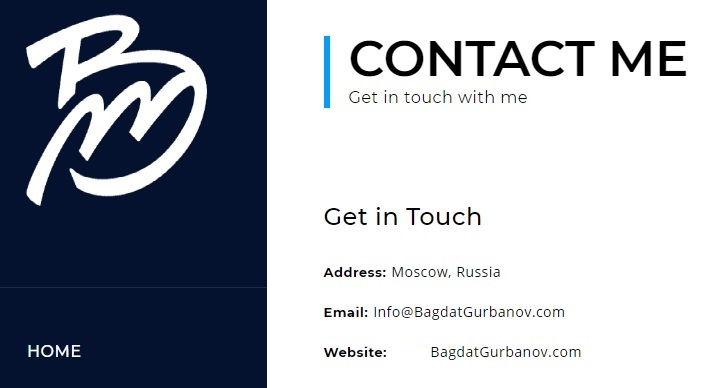 Багдат Гурбанов в социальных сетях