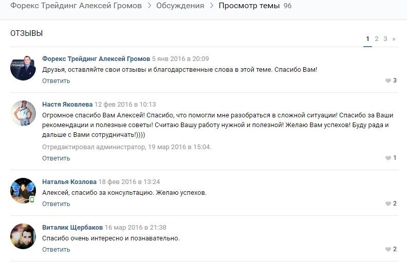Отзывы об Алексее Громове
