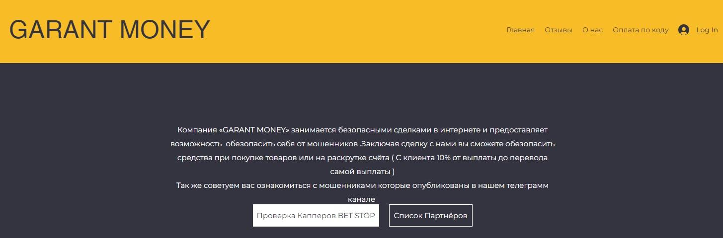 Сайт компании GARANT MONEY