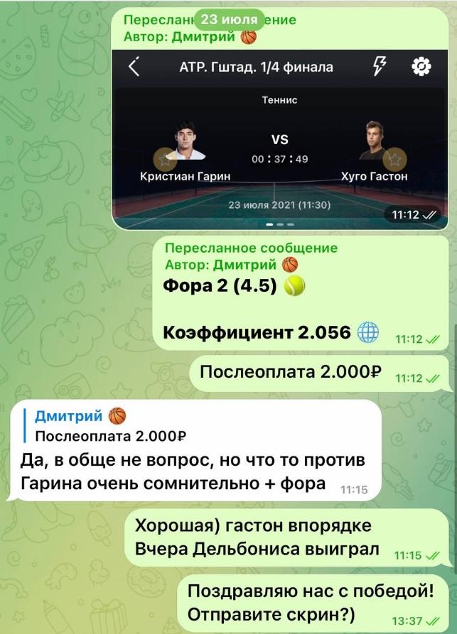 Чат в ТГ с Дмитрием