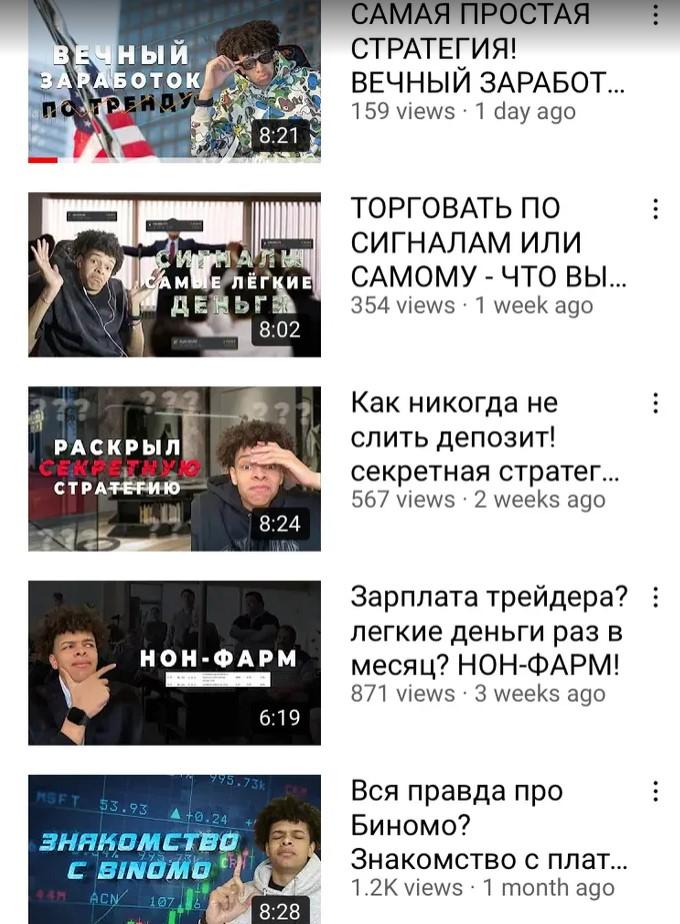 Видеоролики на канале