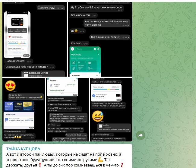 Скриншоты переводов выплат