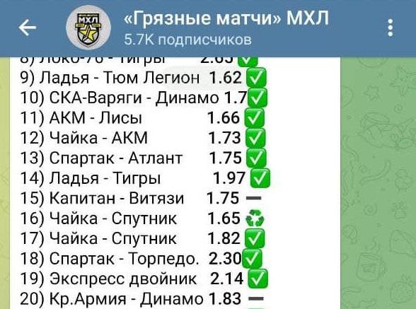 Грязные матчи МХЛ - телеграм канал
